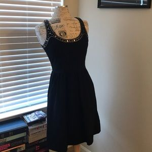 Cynthia Rowley Black Dress w Embellishments Sz S